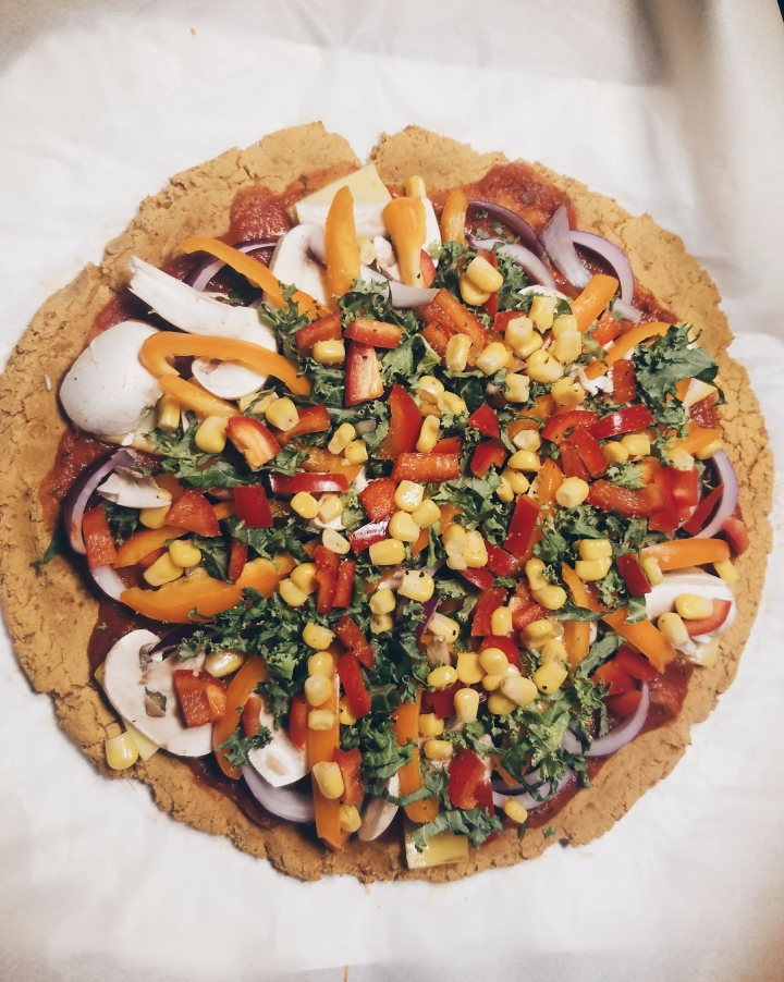 Loaded Vegan Sweet Potato Crust Pizza – Healthy, Plant-based and Gluten free Pizza